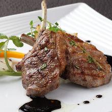 Bone-in lamb steak