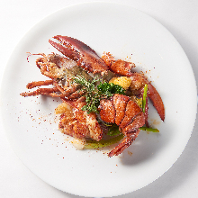 Cooked whole lobster