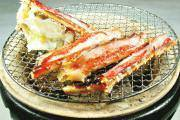 Grilled red king crab