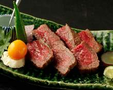 Charcoal grilled wagyu beef