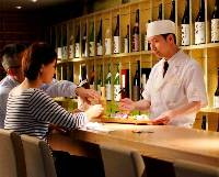 A seasonal sake sampling course with delicious cuisine prepared by our specialty chef
