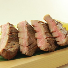 Charcoal grilled beef tongue
