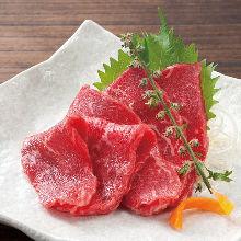 Edible raw beef