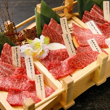 Assorted rare cuts of beef