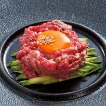 Tsuboduke harami yaki (marinated and grilled skirt steak)