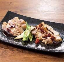 Assorted grilled kurobuta pork