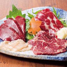 桜肉 三種盛り合せ