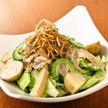 Shabu-shabu salad with sesame dressing