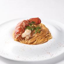 Shrimp pasta with Americane sauce