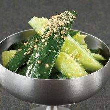 Sesame salt cucumber
