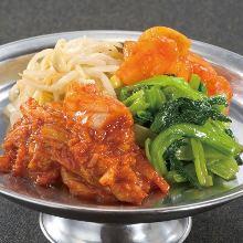 Assorted kimchi and namul