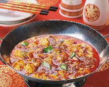 Szechuan-style mapo tofu
