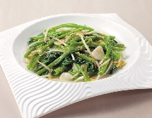 Stir-fried water spinach
