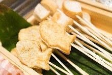 Taiyaki (fish-shaped cakes filled with adzuki bean paste)