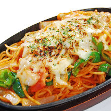 Griddle-cooked pasta