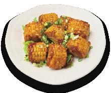 Deep-fried corn