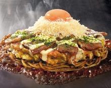 Kurobuta pork okonomiyaki
