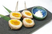 Prok wrapped seasoned boiled egg