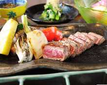 Teppan-yaki(cooked on a griddle)