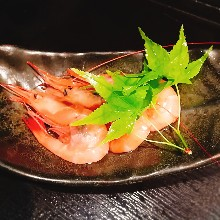 Shrimp preserved in liquor