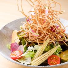 Soba (buckwheat noodles) salad