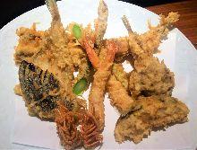 Assorted premium tempura