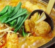 Offal hotpot (spicy miso flavor)