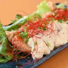 Marinated deep-fried tuna with tartar sauce