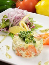 Salmon and avocado tartare