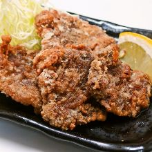 Fried whale meat Tatsuta