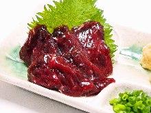 Whale sashimi