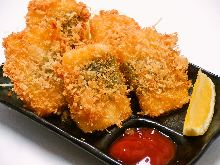 Wrapped fried cheese