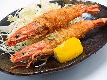 Deep-fried shrimp