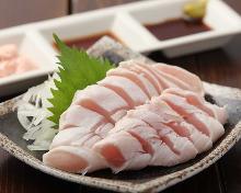 Jidori chicken breast sashimi