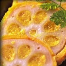 Deep-fried stuffed lotus root