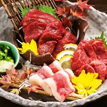 Assorted edible horse meat