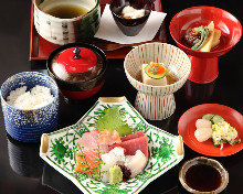 Sashimi meal set