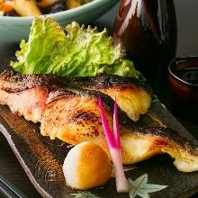 Grilled seasonal fish with Saikyo miso