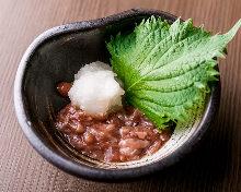 Skipjack tuna shuto (salted entrails)