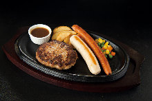 Hamburg steak and German sausage