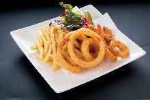 Assorted deep-fried dishes, 3 kinds