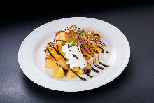 French toast with chocolate sauce