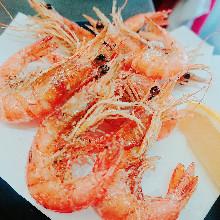 Shrimp deep-fried without batter