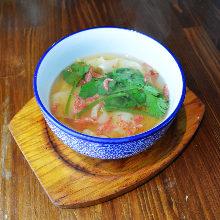 Boiled shrimp gyoza