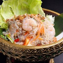 Shrimp and bean-starch vermicelli salad