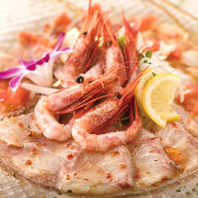 Assorted fresh fish Carpaccio of the day, 5 kinds