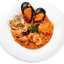 Seafood tomato risotto of the day