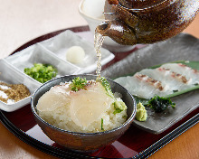 Tai Ochazuke (Boiled rice with tea and sea bream)