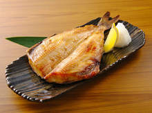 Charcoal grilled fish