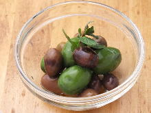 Assorted olives